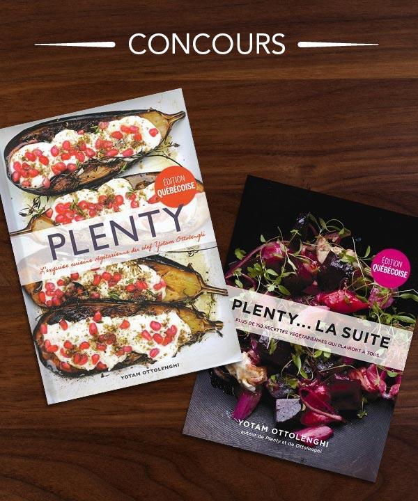 Gagnez le duo de livres de recettes végétariennes Plenty