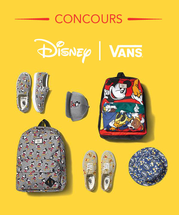 Gagnez des items de la nouvelle collection Disney par Vans!