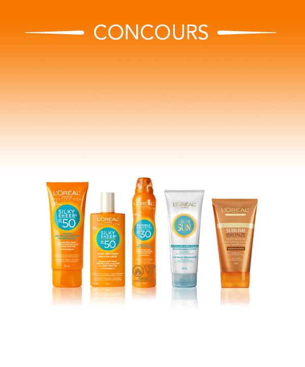 Gagnez un panier de soins solaires Sublime Sun de L'Oréal!