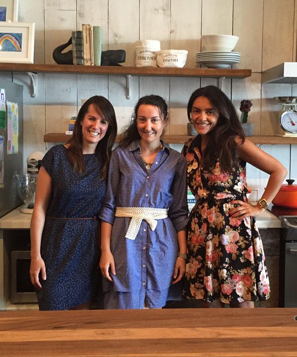 Alexandra Diaz, Geneviève O'Gleeman et Jaime Damak
