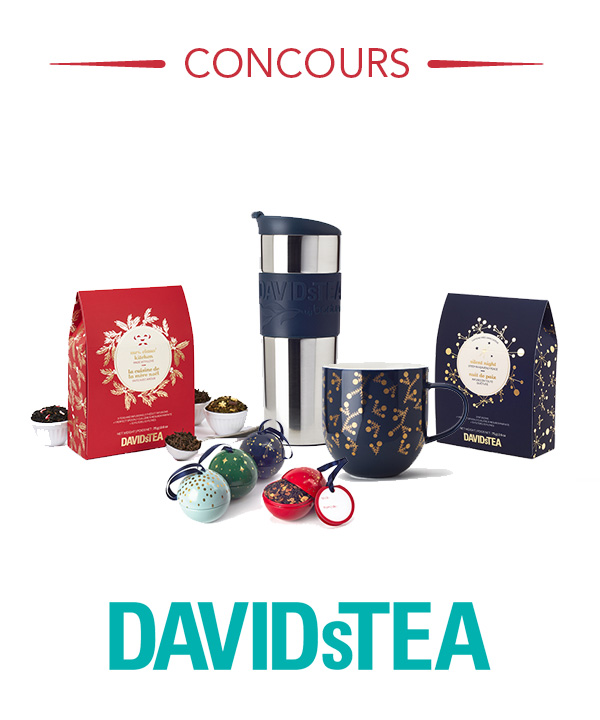 Gagnez un ensemble des fêtes DAVIDsTEA!