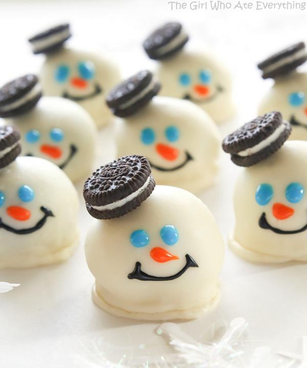 Table de Noël: Bonhommes de neige Oreo