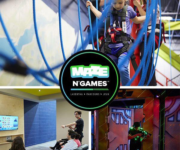 Gagnez un laissez-passer pour 4 personnes au Maze N'Games!