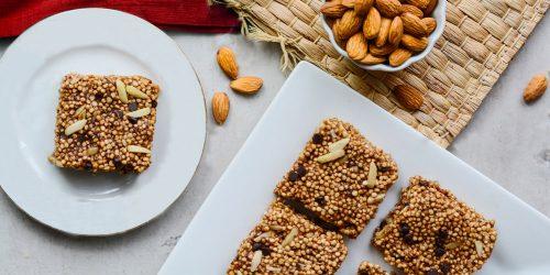 Carrés quinoa beurre amande