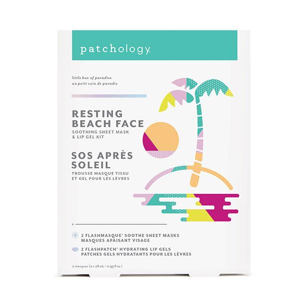 Trousse-masque-tissu-et-gel-pour-les-lèvres-SOS-après-soleil-de-Patchology