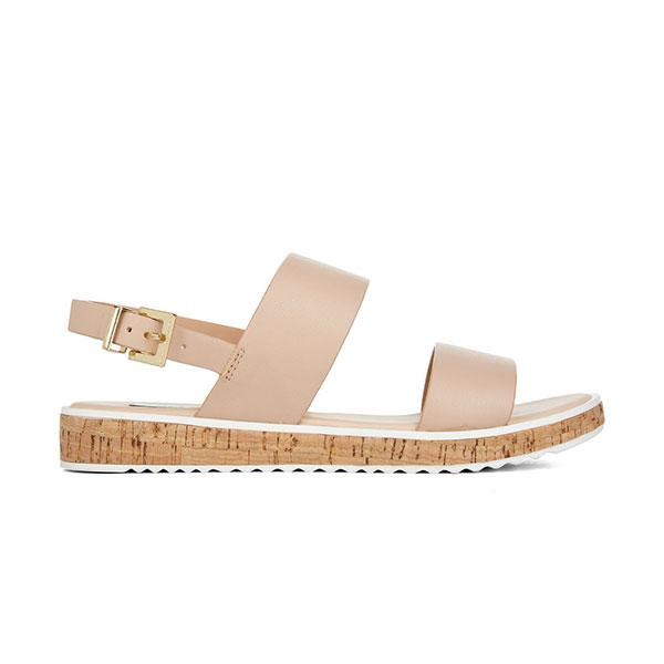 Sandale-à-semelle-de-liège-Yellow