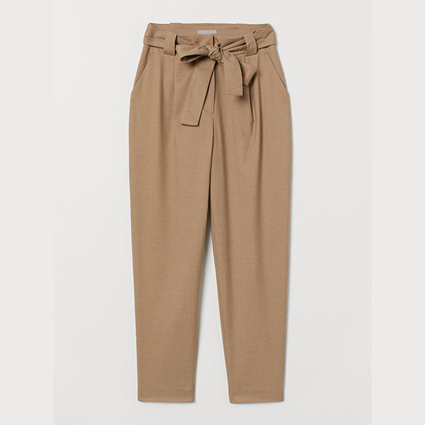 Pantalon-taille-haute-à-plis-couchés-HM