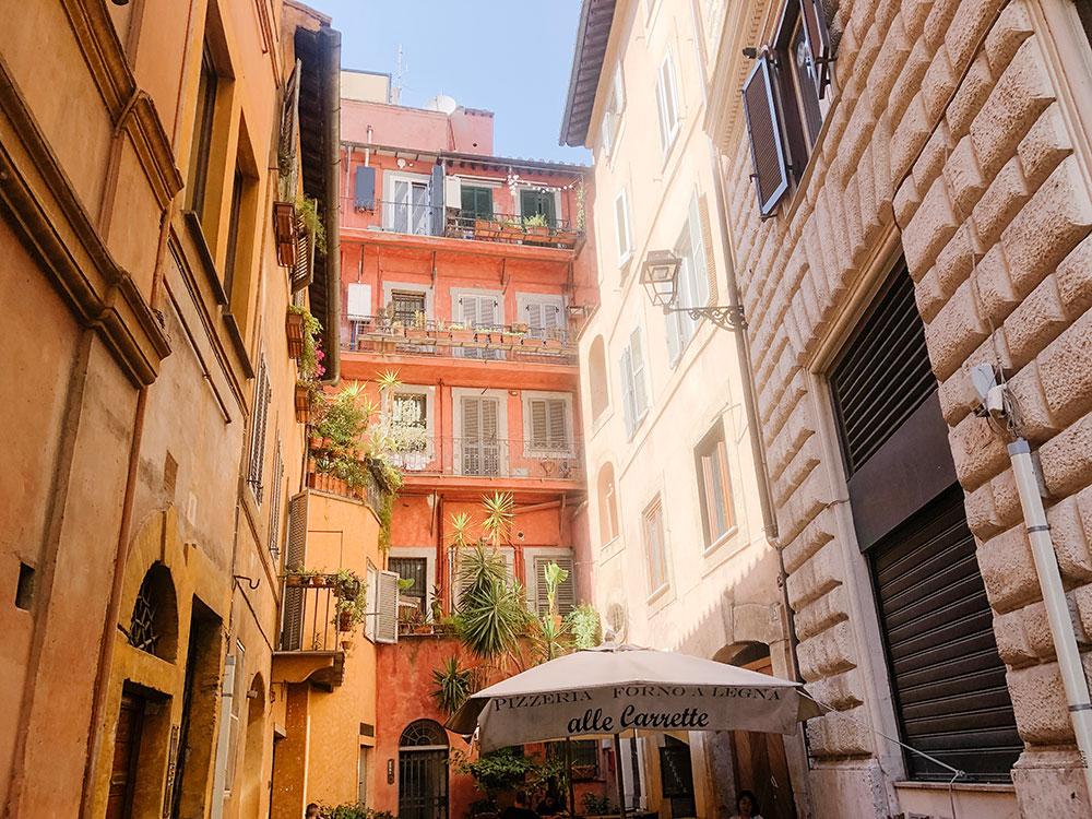 Voyage à Rome-Évitez les restaurants / cafés dans les grands « squares »