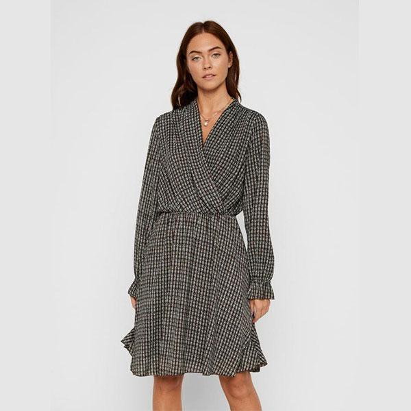 18-Robe-portefeuille-à-taille-élastique,-Vero-Moda
