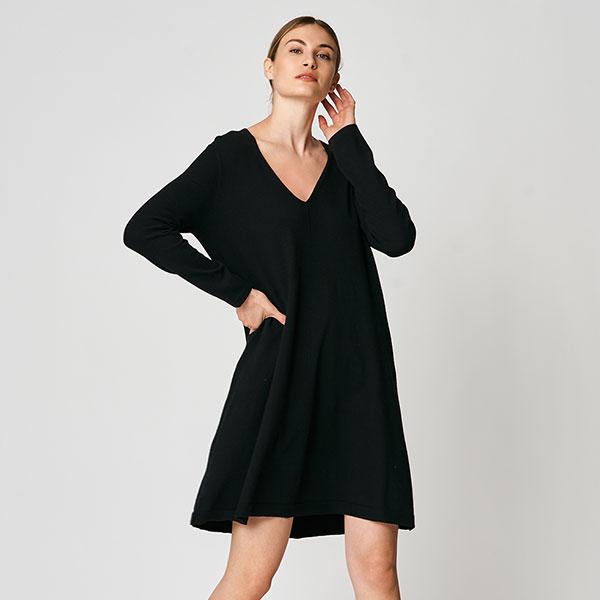 8-Robe-trapèze-à-manches-longues,-Uchuu