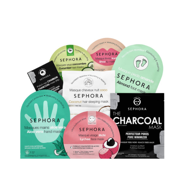 15-Ensemble de masques en feuille, Sephora Collection