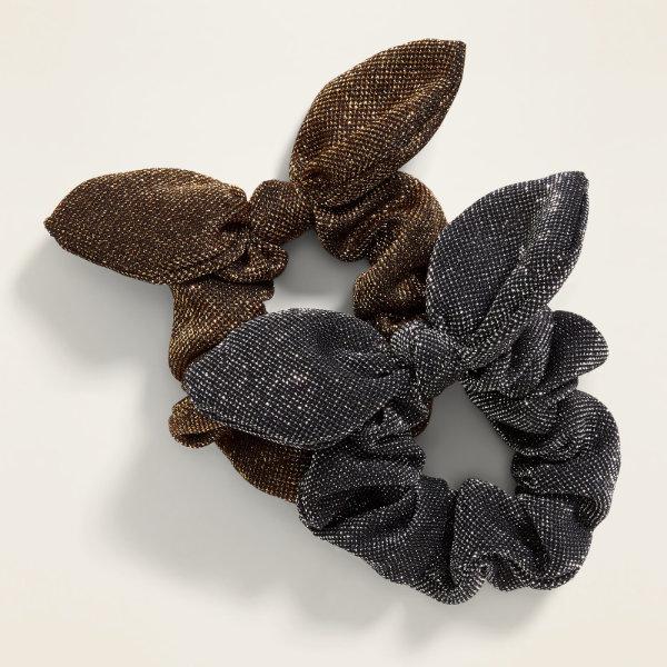 1-Chouchous à cheveux métallisés en coton, Old Navy