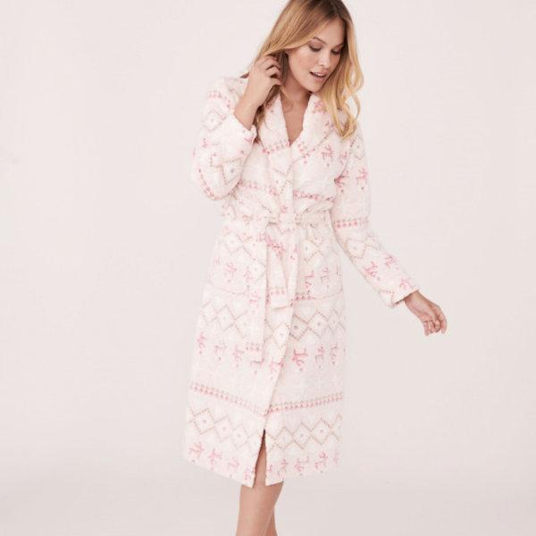 6-Robe de chambre en polyester, la Vie en Rose