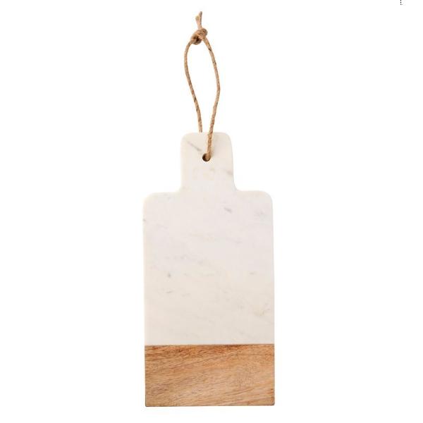 Petit plateau en marbre et bois, Indigo