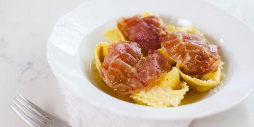 Tortellinis à la ricotta et au Prosciutto di Parma