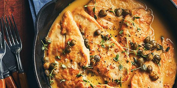Escalopes de poulet au thym et au citron de Stefano Faita