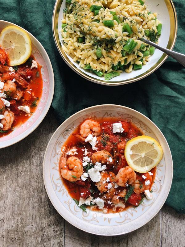 cook it-crevettes saganaki