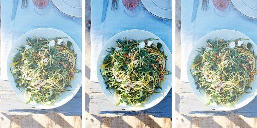Salade-de-courgettes-avec-roquette-et-feta