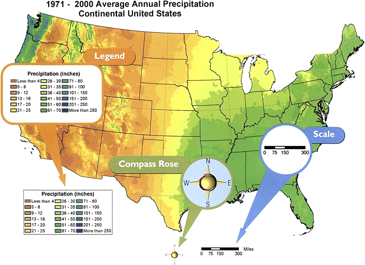 Climate Maps PowerKnowledge Earth Space Science - Us map climate