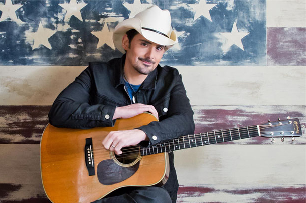 "Brad Paisley - ""American Flag on the Moon"""