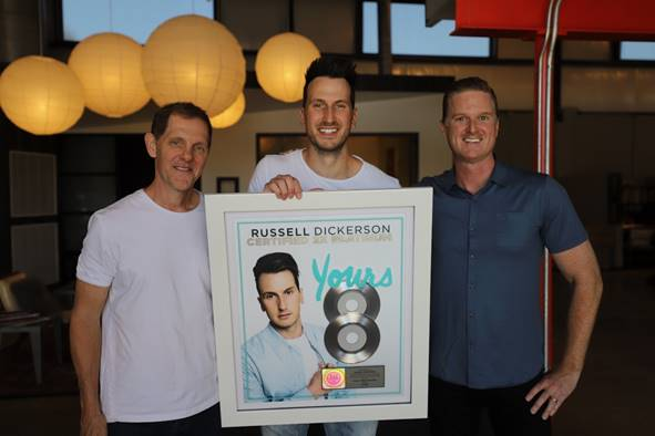 "Russell Dickerson's ""Yours"" Certified Double Platinum"
