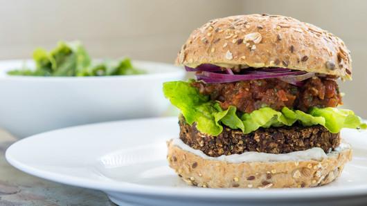 Mushroom Black Bean-Quinoa Burger