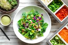 Onecolumn salad bar condiments 153