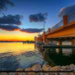 Lantana Florida Drawbridge Sunset from Base