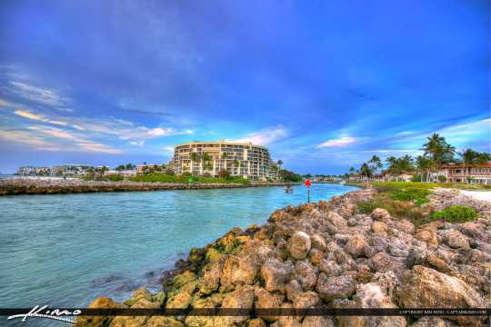 Inlet at Naples Florida with Condos