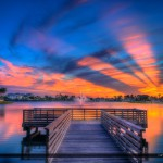 Fishing Dock at Lakeside Challenger Park Royal Palm Beach Florid