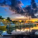 Boynton Beach Harbor Marina Sunrise at Boat Dock