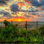 Lantana Beach Sunrise along Fence