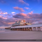 Daytona Beach Boardwalk and Pier Purple Colors