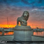 Bridge of Lions St Augustine Florida Aurora HDR