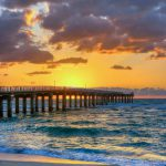 Sunny Isles Florida Fishing Pier during Sunrise