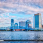 Jacksonville City Skyline St. Johns River downtown city