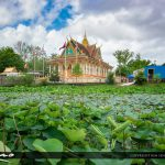 Cambodian Temple at Jacksonville FL with Lotus Pond