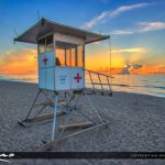 Beach Sunrise Lifeguard Tower