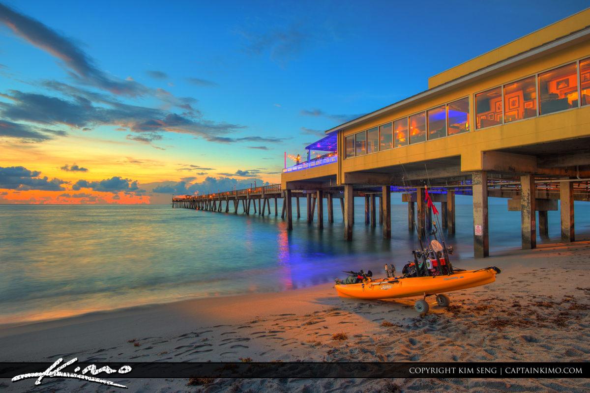 Dania beach pier product tags royal stock photo for Delray beach fishing