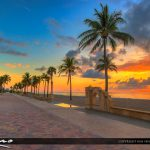 Hollywood Beach Broadwalk Landmark South Florida