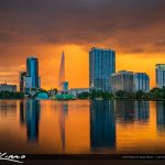 Lake Eola Fountain Orlando Florida Square
