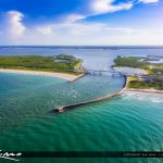 Melbourne Beach at Sebastian Inlet Aerial View