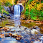 Looking Glass Falls Brevard North Carolina Fall Colors