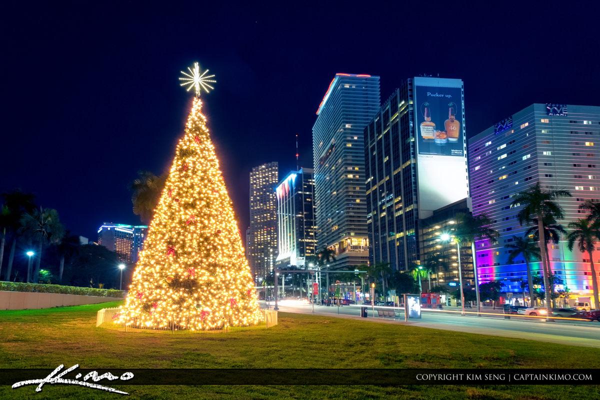 miami downtown christmas tree 2016