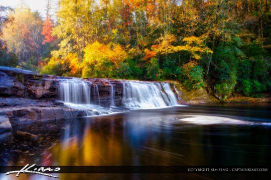 Fall Colors at Hooker Falls Dupont State Forest North Carolina