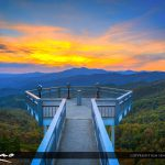 The Blowing Rock Blue Ridge Mountain Sunset North Carolina