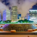 Bayfront Park Amphitheatre Downtown Miami Skyline Panorama