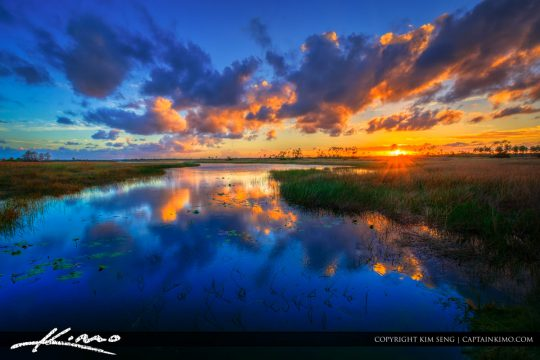 Pine Glades Natural Area Sunset from Palm Beach County Florida