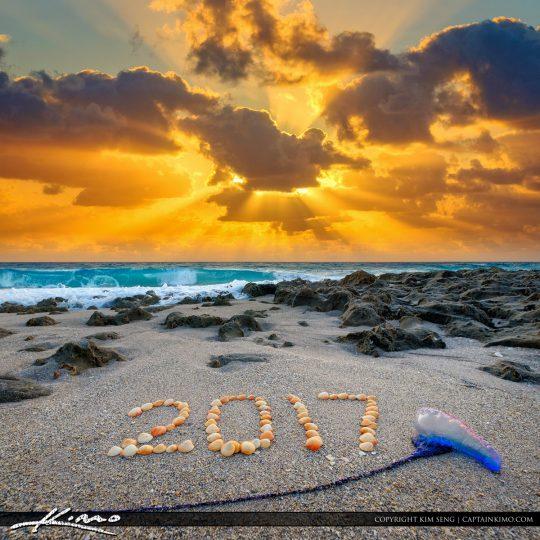 Newr Year 2017 Beach Sunrise Singer Island Florida