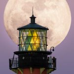 Big Moon Rise Jupiter Lighthouse